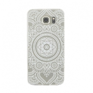 Telephonecase mandala for Samsung Galaxy S7  Transparent - white