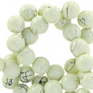 Drip-art 6 mm glass beads Sea mist green