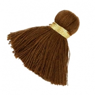Maxi tassels 3.5 cm Gold-brown