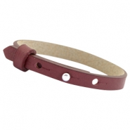 Cuoio bracelets leather 8mm for 12mm cabochon Aubergine port red