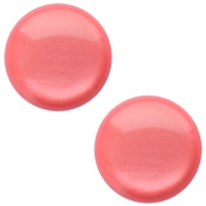 12mm classic Polaris Elements cabochon soft tone shiny Peachy coral pink