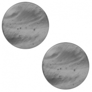 20mm flat Polaris Elements cabochon Mosso Shiny Silver night
