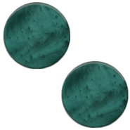 20mm flat Polaris Elements cabochon Mosso Shiny Deep lake teal blue
