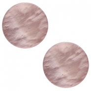12mm flat Polaris Elements cabochon Mosso Shiny Taupe brown