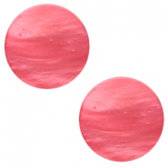 12mm flat Polaris Elements cabochon Mosso Shiny Peachy coral pink