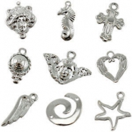DQ European metal beads and charms DQ European metal beads light silver