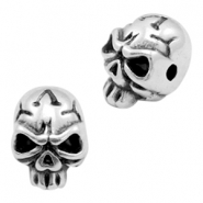 DQ metal beads skull 9x12mm Antique silver (nickel free)