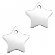 DQ metal charms star 17mm Antique silver (nickel free)