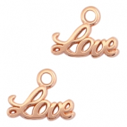 "DQ metal charms ""LOVE"" Rose gold (nickel free)"
