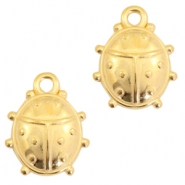 DQ metal charms ladybug Gold (nickel free)