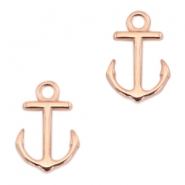 DQ metal charms anchor Rose gold (nickel free)