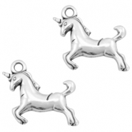 DQ metal charms unicorn Antique silver (nickel free)