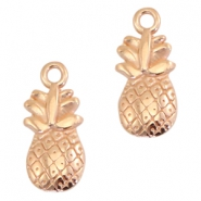 DQ metal charms pineapple Rose gold (nickel free)