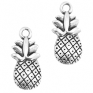 DQ metal charms pineapple Antique silver (nickel free)
