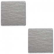 12mm flat square Polaris Elements cabochon Stormy silver grey
