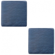 20mm flat square Polaris Elements cabochon Denim blue