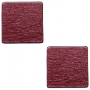 12mm flat square Polaris Elements cabochon soft tone shiny Aubergine red