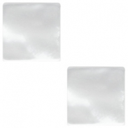 20mm flat square Polaris Elements cabochon Perseo White