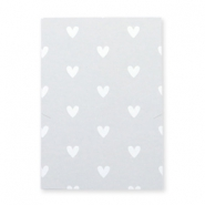 Jewellery greeting card little hearts Grey-white