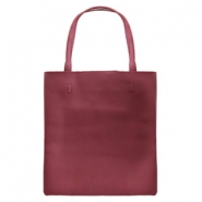 Fashion bag Aubergine red