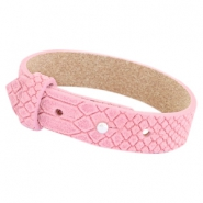 Leather 15mm Reptile Cuoio bracelets for 20mm cabochon Candy pink