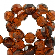 Czech faceted beads 10mm Smoked topaz