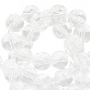 Czech faceted beads 10mm Crystal