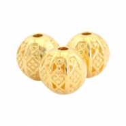 DQ metal beads ball bohemian 8mm Gold (nickel free)