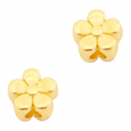 DQ metal beads flower 4mm Gold (nickel free)