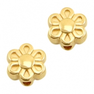 DQ metal beads flower 9mm Gold (nickel free)