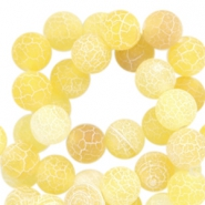 8mm round agate semi-precious stones faceted cut Yellow opal