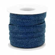Trendy flat denim cord 10m Midnight navy blue
