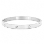 Stainless steel bracelets diamonds Silver