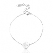 Stainless steel bracelets clover four Silver