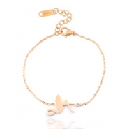 Stainless steel bracelets flamingo Rose gold
