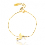 Stainless steel bracelets flamingo Gold