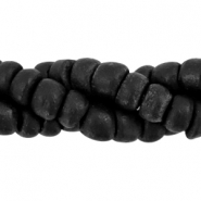 Coconut beads disc 6mm Black (natural colour of coconut)