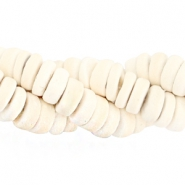 Coconut beads disc 8mm Off white (natural colour of coconut)