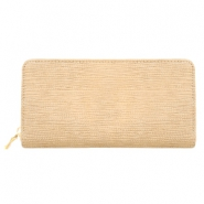 Trendy faux leather wallets crocodile Beige-brown