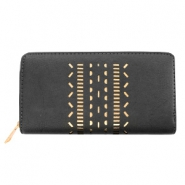 Trendy faux leather wallets light rosegold ethnic Anthracite