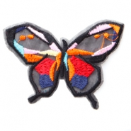 Butterfly patches Red-orange-pink