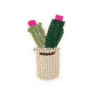 Cactus patches Beige-green