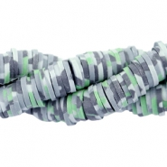 Katsuki beads army print 3mm Grey-green