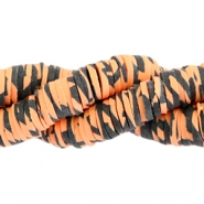 Katsuki beads animal print 3mm Orange-black
