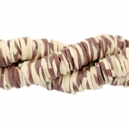 Katsuki beads animal print 4mm Brown-beige