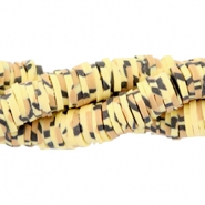 Katsuki beads animal print 3mm Yellow-brown-black