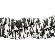Katsuki beads animal print 4mm Off white-black