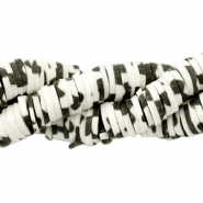 Katsuki beads animal print 6mm Black-off white