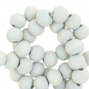 Round wooden beads 8mm Pearl grey