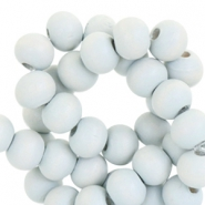 Round wooden beads 6mm Garden light grey